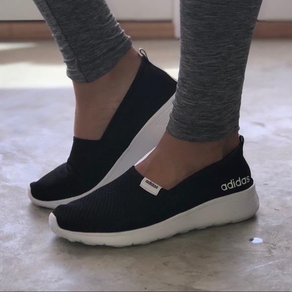 ... Adidas Neo Cloudfoam Lite Racer Slip-On Womens 8 ... 84f863546
